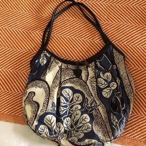 Mella Josef Frank fabric bag w/ leather trim